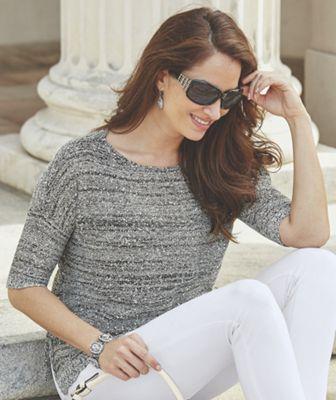 Melange Sequin Sweater
