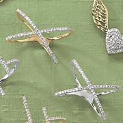 10k gold diamond x ring