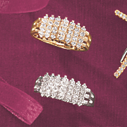 10k gold diamond waterfall ring