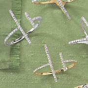 10k gold diamond t bar ring