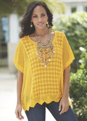 Diamond Crochet Sweater