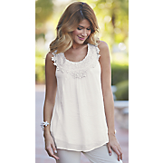 leah crochet trim tunic