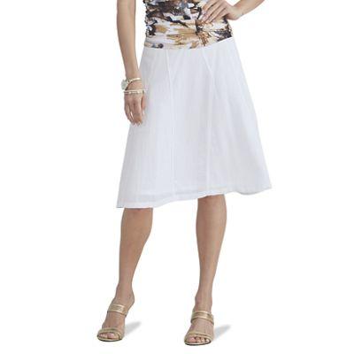 Linen-Look Skirt