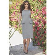 side peplum crinkle dress