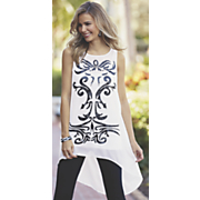 chiffon scroll tunic 112
