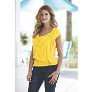 Zuri Rose Trim Top