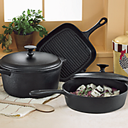 5 pc  cast iron cookware set