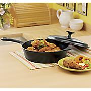 3 qt  cast iron fryer with lid