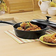 3 qt  cast iron fryer with lid