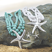 starfish necklace earring set