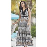 tayja block print dress