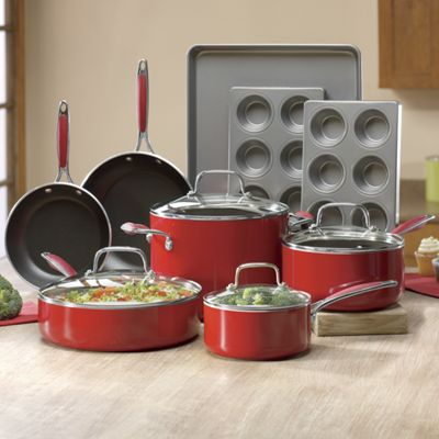 13-Piece Aluminum Cookware and Bakeware Set by Kitchenaid<sup class='mark'>&reg;</sup>