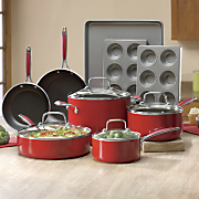 13 pc  aluminum cookware and bakeware set by kitchenaid