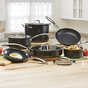 10-Piece Hard-Anodized Cookware Set by Kitchenaid®
