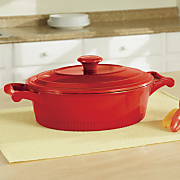 3 qt  cast iron casserole with lid by kitchenaid