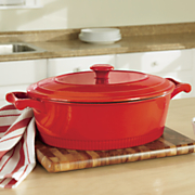 6 qt  cast iron casserole with lid by kitchenaid