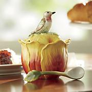 tulip jar with spoon