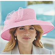wide brim hat with faux pearls