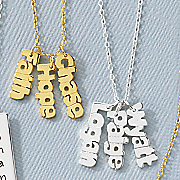 vertical nameplate necklace