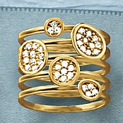 diamond 5 stackable rings