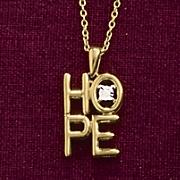 stacked hope diamond pendant