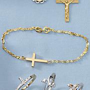 10k gold east west cross bracelet