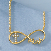 diamond infinity faith necklace