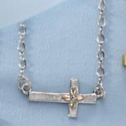 black hills gold sideway cross pendant