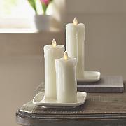 set of 3 mini mirage led candles