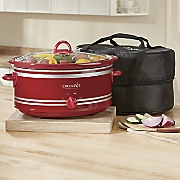 7 qt  slow cooker with free travel bag by crock pot