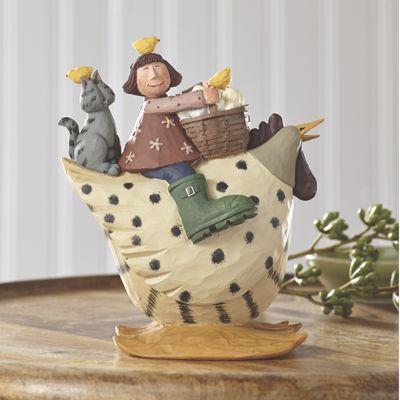Cat Girl Chicken Figurine by Williraye
