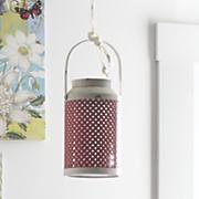 red woven lantern