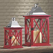 set of 2 red lanterns