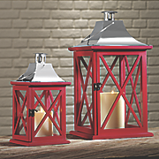 set of 2 red lanterns
