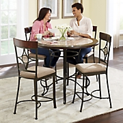 gathering height table   dining chairs