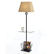 glass table floor lamp