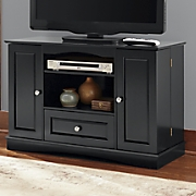 tv stand with swing open storage