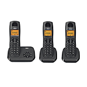 3 phone digital cordless system by rca