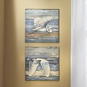 Set of 2 Pelican Art