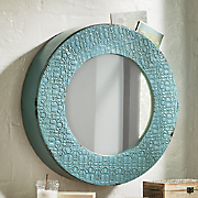 slate blue storage mirror