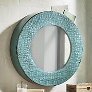 Slate Blue Storage Mirror