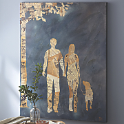 Couple with Dog Canvas