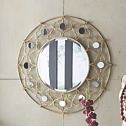 Gold Medallion Mirror