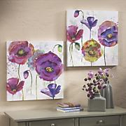 set of 2 poppy art