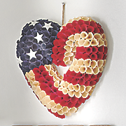rose patriotic heart wreath