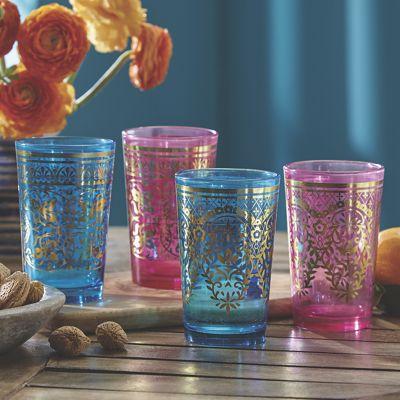 Set of 4 Moroccan Tea Glasses