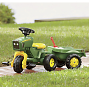 john deere pedal tractor and trailer