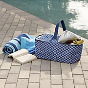 nautical insulated picnic tote