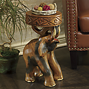 carved elephant stool 23
