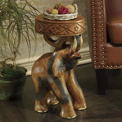 Carved Elephant Stool